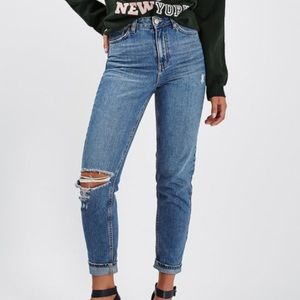 Topshop mom ripped jeans.